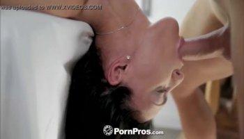 Chubby Japanese bimbo with huge tits a real bukkake star